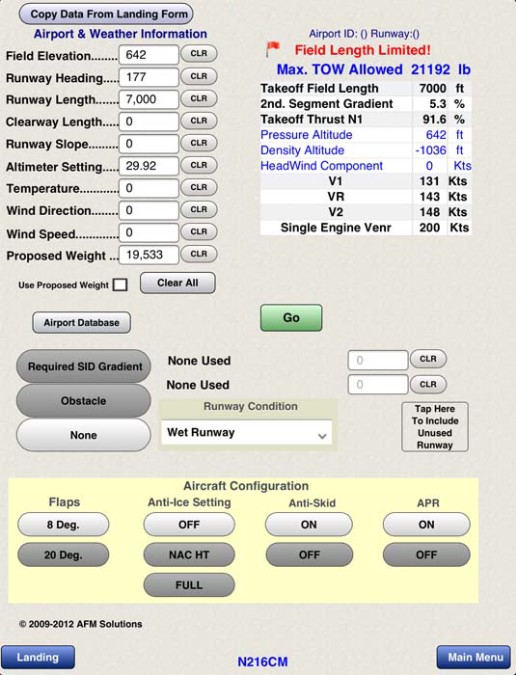 Aircraft Performance Apps For Takeoff